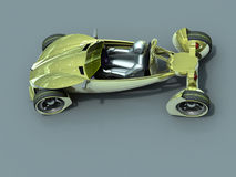 Concept sport car. Render concept car of yellow colour royalty free illustration