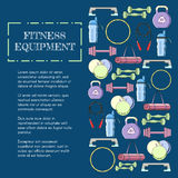 Concept of sport equipment background. Vector illustration icon set Royalty Free Stock Photography