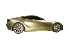 Concept Sports Car. Beautiful  concept sports car isolated on a white background Stock Image