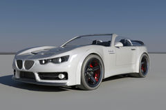 Concept Sports Car. Concept 3D Convertible Sports Car Royalty Free Stock Photography