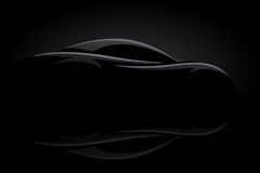 Concept sports car vehicle silhouette Stock Images