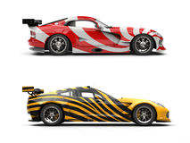 Concept sports cars - exotic paint jobs stock illustration