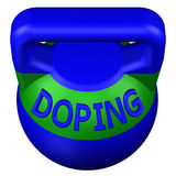 Concept: Sports doping. 3D rendering. Concept: Sports doping, isolated on white background. 3D rendering Stock Photos