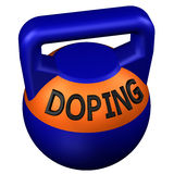 Concept: Sports doping. 3D rendering. Concept: Sports doping,  on white background. 3D rendering Stock Photography