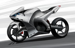 The concept of a sports road super bike. Illustration. Stock Image