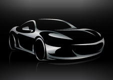 Concept Sportscar Vehicle Silhouette Royalty Free Stock Images