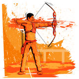 Concept of sportsman doing Archery Stock Photos