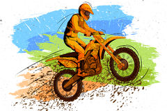 Concept of sportsman doing Motorcross Stock Photography