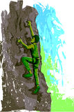 Concept of sportsman doing Rock Climbing Royalty Free Stock Images