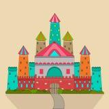 Concept sprookjes met kasteel stock illustratie