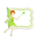 Concept sprookjes met leuke engel vector illustratie