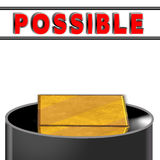 CONCEPT - square peg in round hole Royalty Free Stock Photo