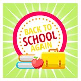 Concept for 1st September, Back to school idea. Vector illustration, image. Happy Day of knowledge - holiday greeting card design. Poster, banner concept for Vector Illustration