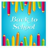 Concept for 1st September, Back to school idea. Vector illustration, image. Happy Day of knowledge - holiday greeting card design. Poster, banner concept for Royalty Free Illustration