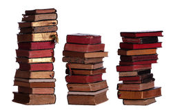 Concept of stacked old books Royalty Free Stock Photography