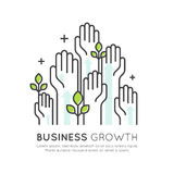 Concept of Start Up Business Growth, Development and Increasing Stock Photo
