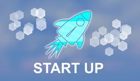 Concept of start up. Illustration of a start up concept royalty free illustration