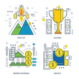 Concept of startup, success, payment methods, deposit. Royalty Free Stock Photography