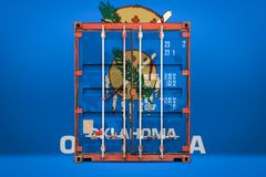 The concept of   state  export-import and national delivery of goods stock photography