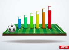 Concept statistics about the game of soccer Royalty Free Stock Images