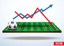 Concept statistics about the game of soccer Stock Photography