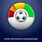 Concept statistics about the game of soccer Royalty Free Stock Photography