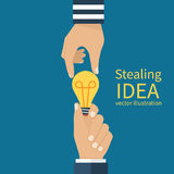 Concept of stealing ideas stock illustration