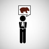 Concept stock exchange market bear sell icon Stock Photography