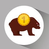 Concept stock exchange market bear sell icon Stock Image