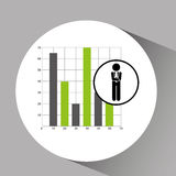 Concept stock exchange market graphics growth icon. Vector illustration eps 10 Stock Photo