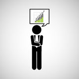 Concept stock exchange market wall street statistics icon. Vector illustration eps 10 Stock Photos