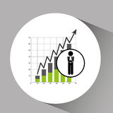 Concept stock exchange market wall street statistics icon. Vector illustration eps 10 Royalty Free Stock Photo