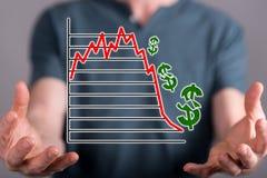 Concept of stock market crash Stock Photo