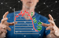 Concept of stock market crash Royalty Free Stock Photo