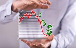 Concept of stock market crash Stock Photos