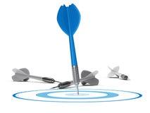 Concept stratégique de gestion - cible et dards Photos stock