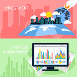 Concept of strategic management and investment Royalty Free Stock Images