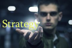 Concept strategie stock illustratie