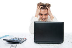 Concept of stressed busibnessman at work Stock Images