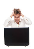 Concept of stressed busibnessman at work Stock Image