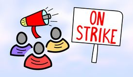 Concept of on strike stock illustration