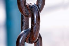 Links of the old fastening chain. royalty free stock photos