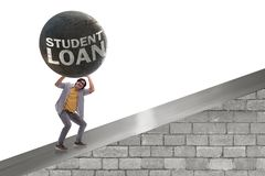 The concept of student loan and expensive education. Concept of student loan and expensive education stock image