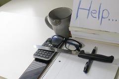 Concept student spanning en het vereisen van hulp door examens te krijgen concept schoolspanning die zelfmoord en het veroorzaken stock fotografie