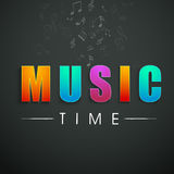 Concept of stylish text of Music Time. Royalty Free Stock Images