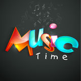Concept of stylish text of Music Time. Royalty Free Stock Photography