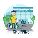 Concept on the subject of shopping Royalty Free Stock Images