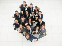 Concept succes talrijk zegevierend commercieel team stock foto
