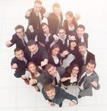 Concept succes talrijk zegevierend commercieel team royalty-vrije stock afbeelding