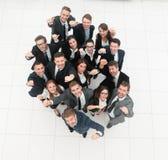Concept succes talrijk zegevierend commercieel team royalty-vrije stock foto